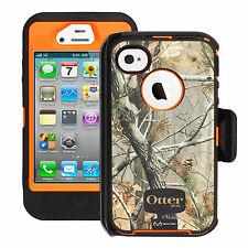 NEW!! OtterBox Defender Case for iPhone 4S & 4 w/ Holster Clip REALTREE CAMO