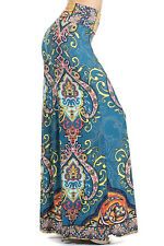 Lycra Sexy NEW  Fold over Long Palazzo Pants Size S M L  Made USA