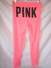 Nwt Victorias Secret Bright Neon Thermal Pajama Pants Leggings PiNK Bum
