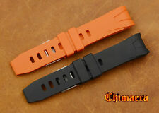 22mm Rubber Strap Bracelet Watch Band For OMEGA Seamater Planet Ocean