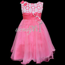 GIRLS Flower Formal Bridesmaid Party Princess Prom Wedding Christening Dress 2-6