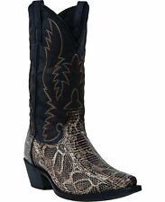 Laredo Western Boots Mens Python Snake Stitched Cowboy Brown 68065