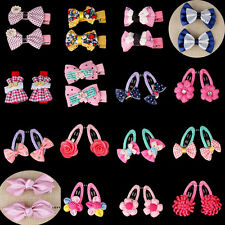 2pcs Girls Baby Kids Children Hair Accessories Bows Snaps Alligator Clips Slides