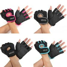 Ladies Men half finger Gloves Fitness Gym Wear Exercise Workout Training Cycling