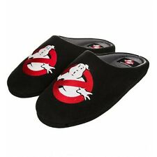 Official Glow in the Dark Ghostbusters Logo Slip on Slippers - Novelty Mens Mule