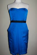 VINCE CAMUTO 10, 12 Blue Directoire Strapless Silky Sheath Dress *NWT $128