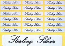 Self Adhesive Jewellery Labels For Sterling Silver ~ 30mm x 5mm  Choose Quantity