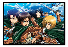 Attack On Titan Manga Anime Four Swords Magnetic Notice Board Includes Magnets