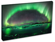 NORTHERN LIGHTS Wall Picture Green AURORA Canvas Print A1/A2/A3/A4