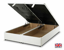 exclusive bed-world white ottoman foot lift divan bed base 3ft single4ft6 double