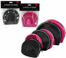 """""""Glamour Essentials"""" Pack of 3 Make-Up Bags Great For At Home & Traveling"""