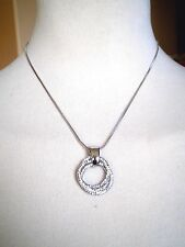 Rhodium Plated Silver Tone Necklace Various Colors & Styles