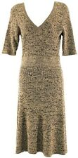 BCBG Maxazria New Brown & Black Womens Sweater Dress Sz L Ret $238