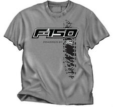 FORD TRUCK F-150 TIRE TRACK DESIGN GREY TEE SHIRT
