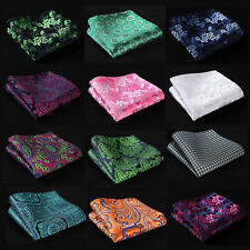 FG Paisley Floral Men Silk Satin Pocket Square Hanky Wedding Party Handkerchief
