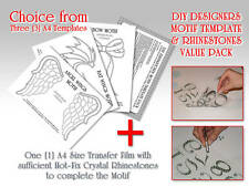 Make Your Own Motif Template & Rhinestones Value Pack (with Newly Added Designs)