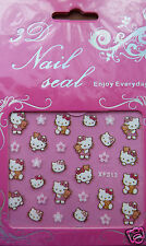 Hello Kitty nail stickers, cute. FREE P&P.  UK SELLER
