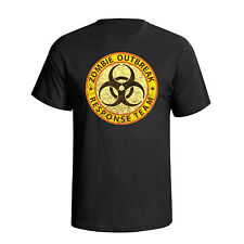 Zombie Outbreak Response Team Military Stag Party Funny Slogan Mens T-Shirt