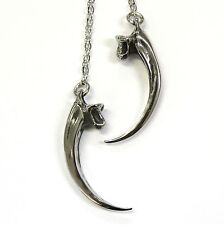 Silver Bald Eagle Talon Claw Lariat Necklace 003
