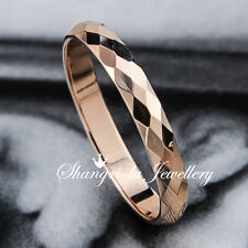 18K 18CT GOLD GP Diamond CUT PLAIN Womens Wedding BAND Anniversary RING R2081