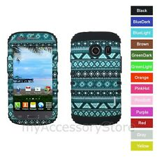 For Samsung Galaxy ACE Style TRIBAL DESIGN Hybrid Rugged Impact Armor Phone Case