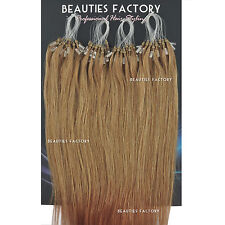 """Straight Micro Bead Loop Ring Remy Human Hair Extensions 20"""" #6/27 (Hair606)"""