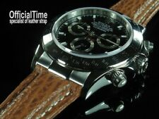 OfficialTime OT AK End Link & 20/16mm Shark Skin Strap / Band fit Rolex Daytona