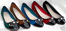 JA-163 NEW TRENDY WOMENS FLATS BALLERINA DOLLY SHOES BOW TRIM SIZE 3-7 FREE P&P