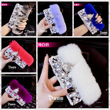 NEW 3D Luxury Bling Diamante Crystal Fox Rabbit Fur Case For LG Optimus