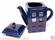 DR182 Doctor Who Tardis Teapot Time Machine Sci Fi BBC Blue Police Call Box