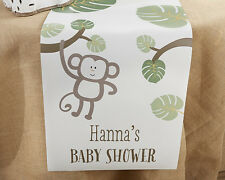 Personalized Born To Be Wild Monkey Jungle Table Runner Baby Shower Decoration
