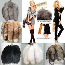 Fox Fur Tail Keychain Tassel Bag Tag charm lovely fashion accessory key chain