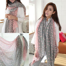 Pink Fashion Long Chiffon Scarf Wrap Ladies Shawl Girls Large Voile Scarves
