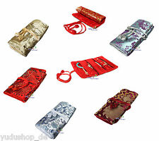 Jewelry Roll Bag For Rings Chains Silk fabric Colours