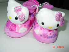 NWT Toddler Girls Hello Kitty Sock Top Slippers Warm Fuzzy Cat Pink Footwear