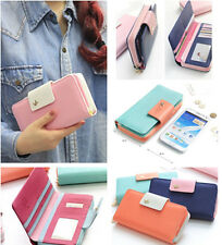 Multi propose Wallets Pouch Case Purse for Cell Phone Galaxy Note2 7100 iPhone 6