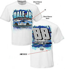 2015 DALE EARNHARDT JR #88 NATIONWIDE INSURANCE WHITE FLAMEOUT NASCAR TEE SHIRT