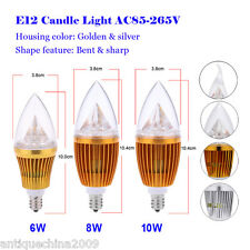 E12 6W 8W 10W High Power Spotlight Lamp LED Chandelier Candle Light Bulb