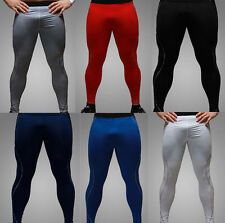 Men's Thermal Compression Under Tight Long Leggings Casual Base Layer Pants Size