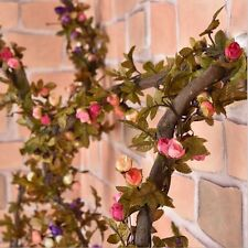 2.2M Artificial Silk Rose Flower Vine Wall Hanging Floral Decor Ivy Plants