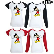 Disney Mickey Mouse Design Graphic Tees Tops T-Shirt For Women Girls Ladies
