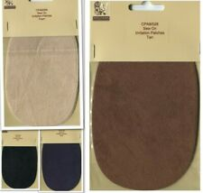 CLEARANCE  Faux Suede Leather Patches  Navy, Black, Tan, Faun  Repair