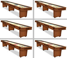 Choose Your NCAA N-P Team 9, 12, or 16' Engraved Wood Shuffleboard Table by HBS