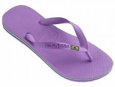 Havaianas Brasil Flip Flops Toe Post Sandals Beach Pool Shoes Light lilac