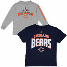 Chicago Bears Youth T-Shirt Combo Set - Navy Blue/Ash - NFL