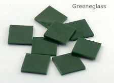 Dark Green Opal Fusible 96 Mosaic Glass Tile Cut to Order Shapes Med Pack