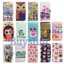 Bcov Smart Cute Owl Card Slot Leather Wallet Case Cover For Samsung Galaxy