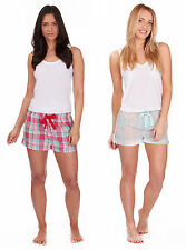 Womens Cotton Pyjama Lounge Shorts New Nightwear Size 8 10 12 14 16 18 20 22