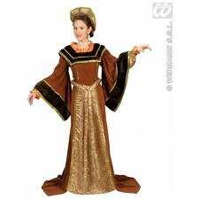 Ladies Womens Tudor Woman Costume Outfit for Regency Royal Fancy Dress