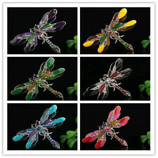Honorable 6Color Rhinestone Crystal Hot Cool Alloy Women Dragonfly Pin & Brooch